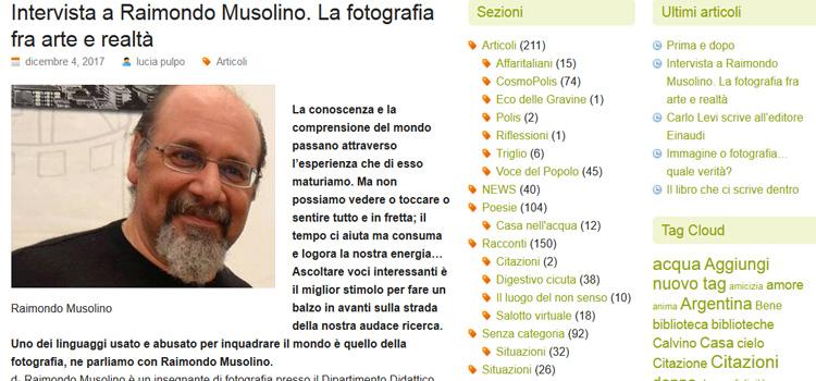 Intervista al Presidente Raimondo Musolino (pulpo.it)